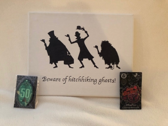 Haunted mansion canvas with pins 01
