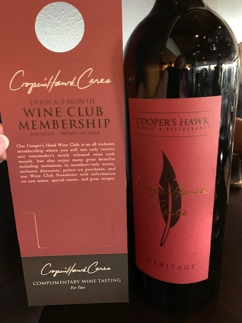 Coopers hawk wine membership and bottle