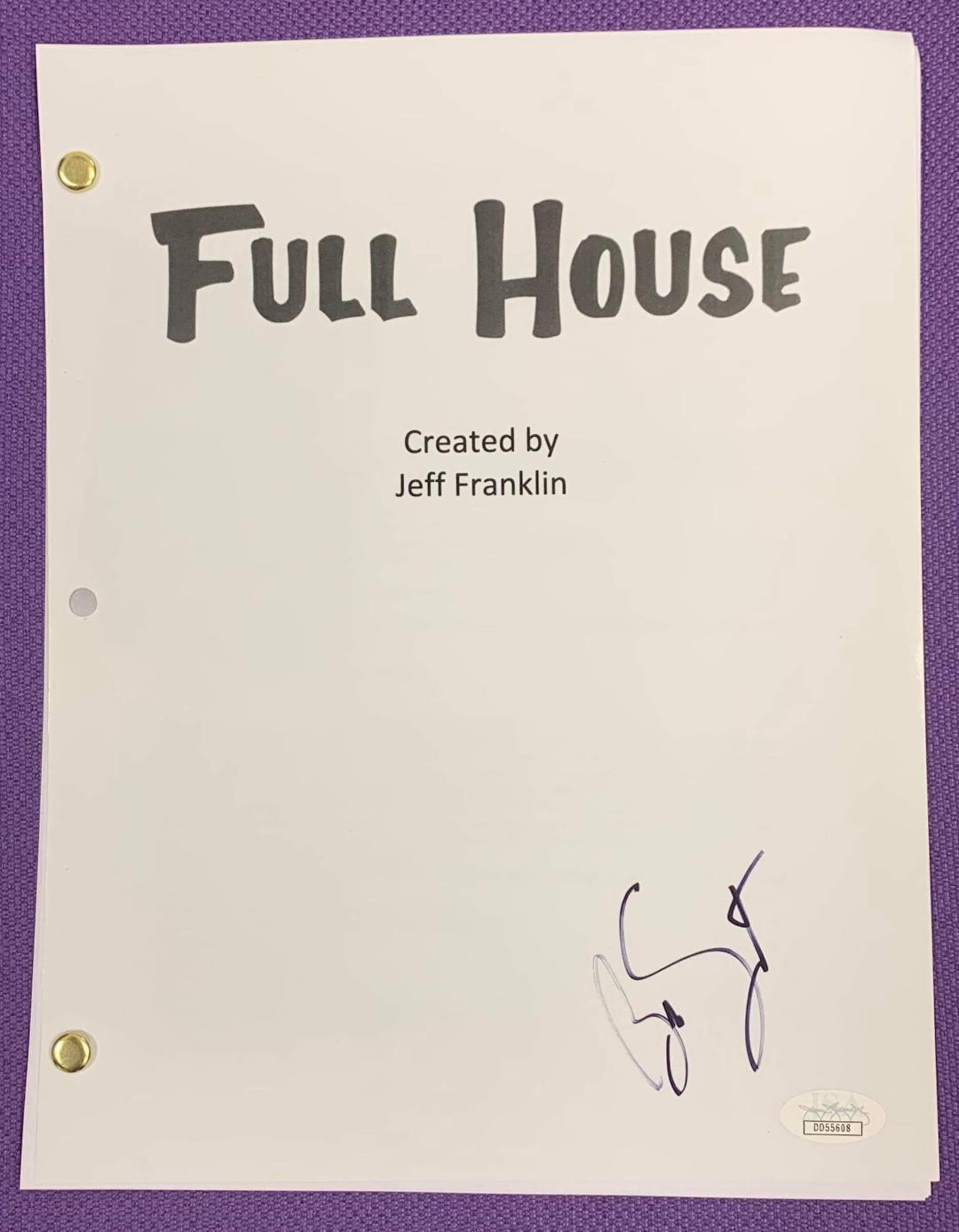 Full house saget autograph