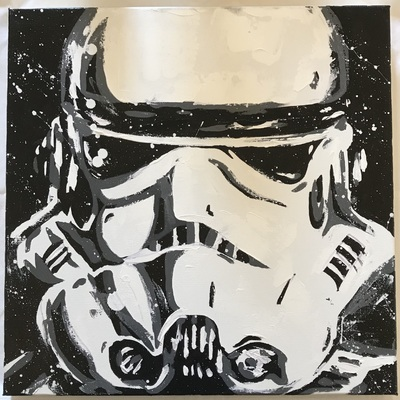 Image stormtrooper canvas