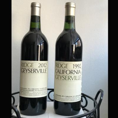 2 bottles of Ridge Geyersville Red Wine, 1992 & 2012