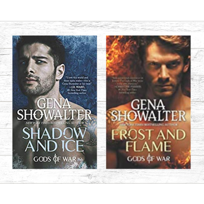 Signed copies of Shadow and Ice and Frost and Flame by Gena Showalter
