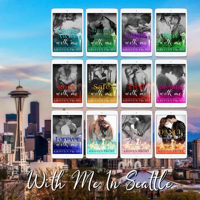 Signed copies of With Me In Seattle series (12 books) by Kristen Proby