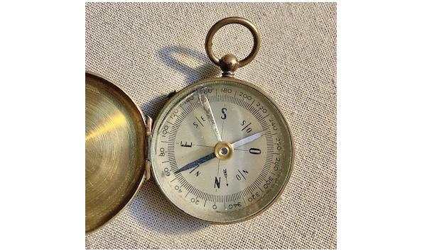 Big image vintage military brass compass3