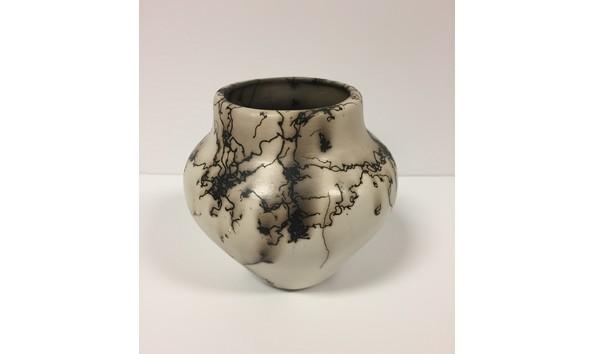 Horsehair Ceramic Vessel Vase
