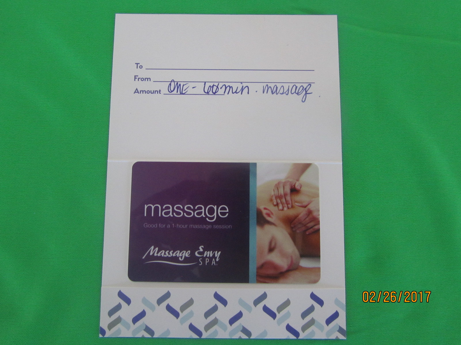 Massage Envy Spa Gift Card For A One Hour Massage Can Be