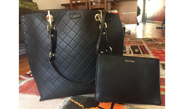 438f2f6223 CALVIN KLEIN Reversible Quilted Tote