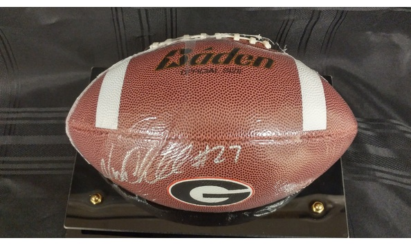 best website 65357 f83b6 NICK CHUBB UGA SIGNED FOOTBALL IN DELUXE CASE