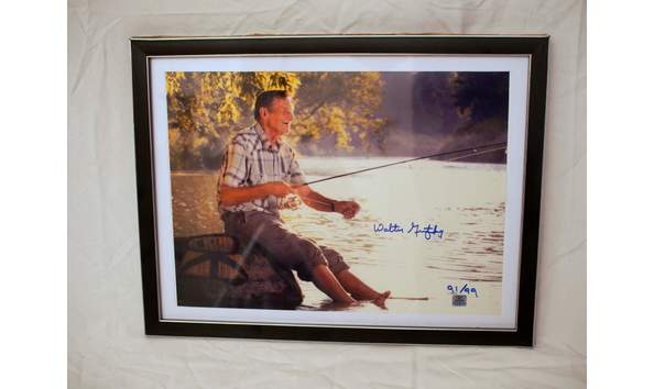 Walter Gretzky Framed And Autographed