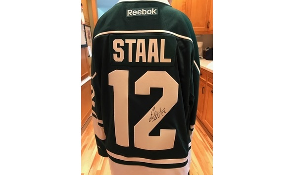buy online 12ca9 b8941 12 Eric Staal Autographed MN Wild Jersey