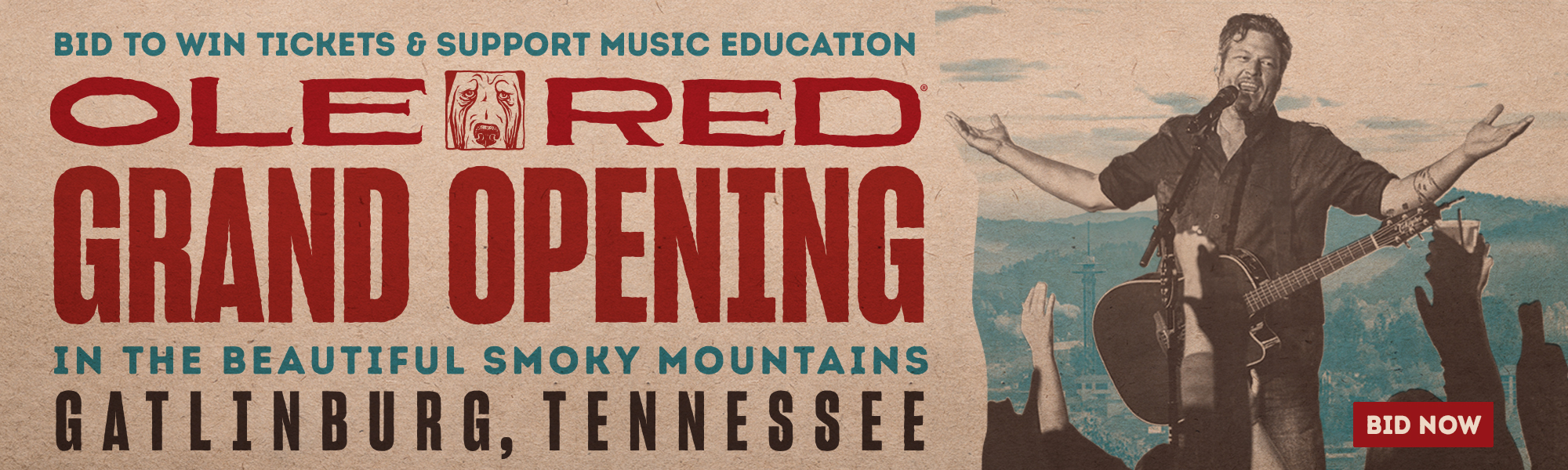 Ole red gatlinburg grand opening ticket auction - Div style justify ...