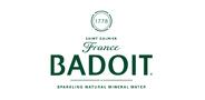 Sponsor logo badoit eng white