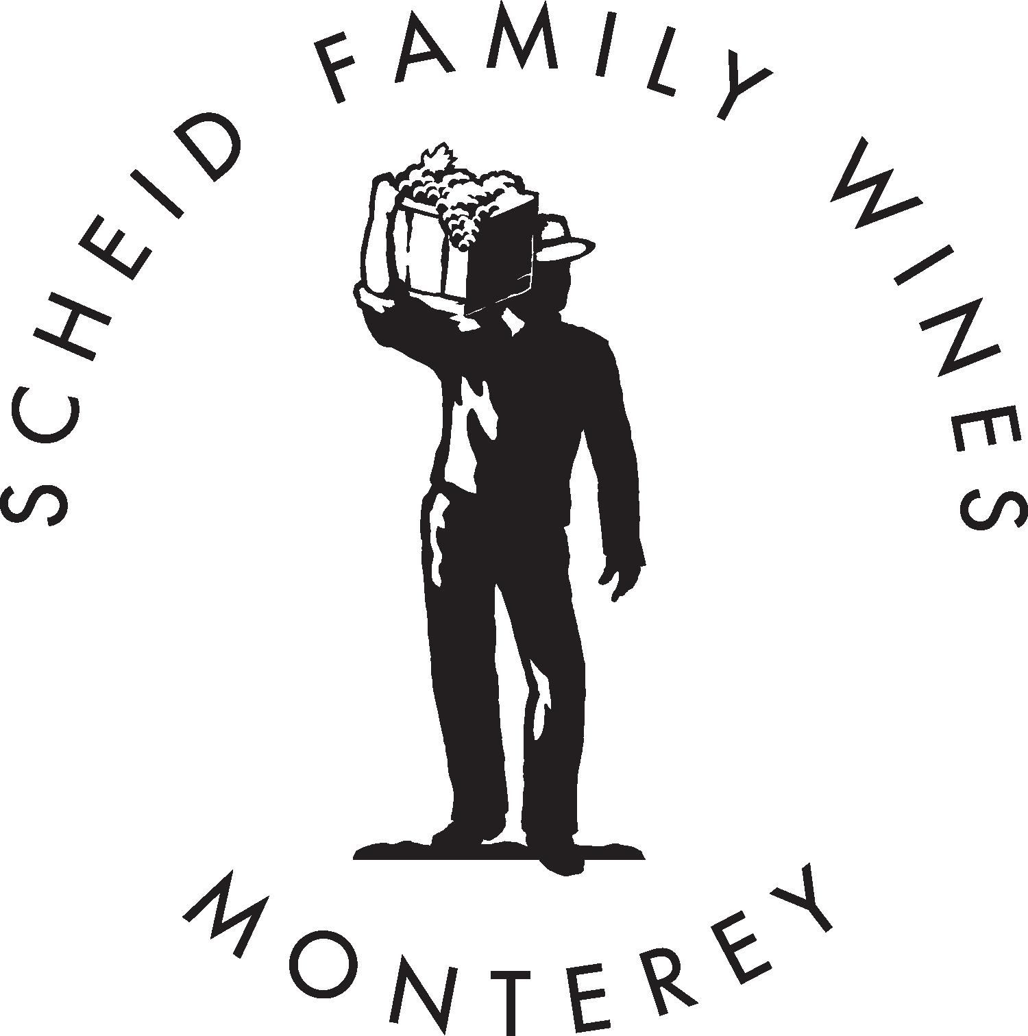 Scheid family vineyards black white