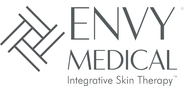 Sponsor logo envy medical stacked logo with cross hatch with tagline