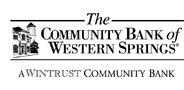 Sponsor logo community bank of western springs